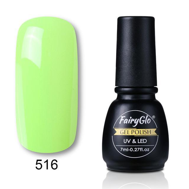 FairyGlo puro Color uñas 7ml Gel Soak Off UV Gel laca polaco Semi ...