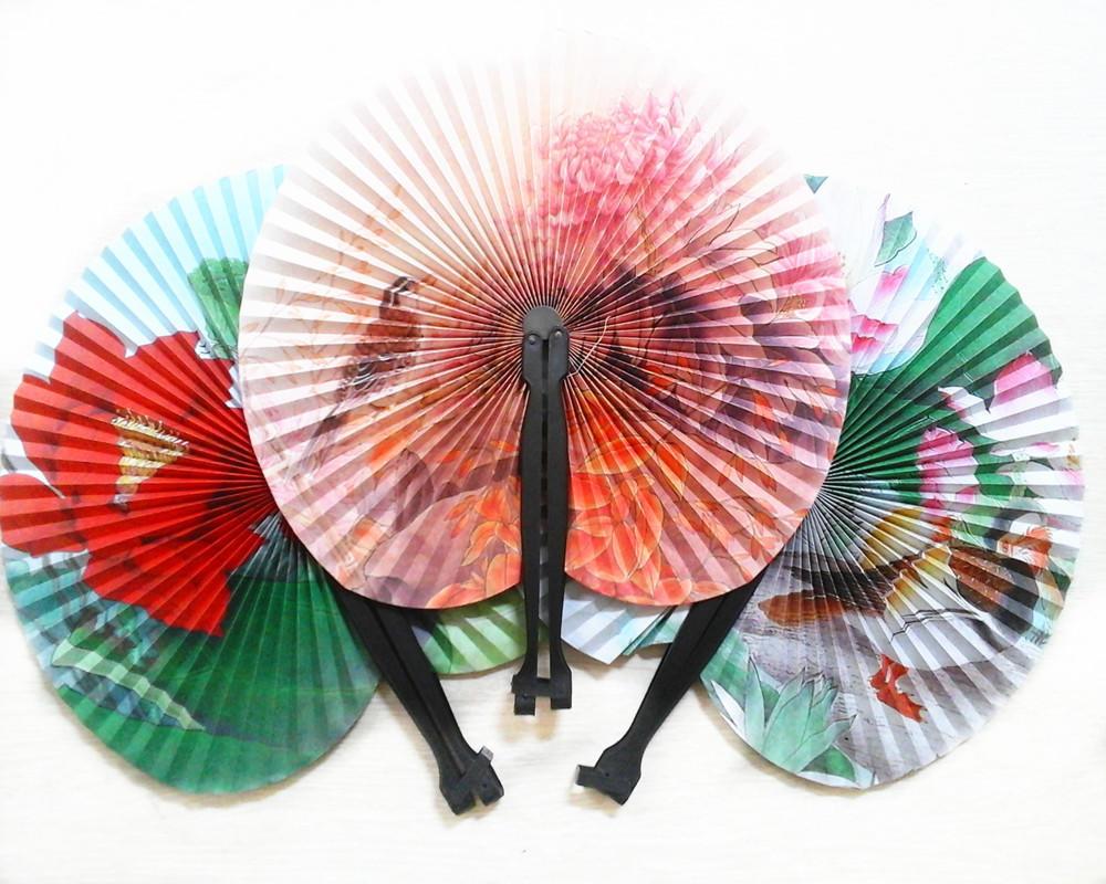 1 Pcs Random Paper Fan Holiday Sale Paper Hand Fan Folding Wedding ...