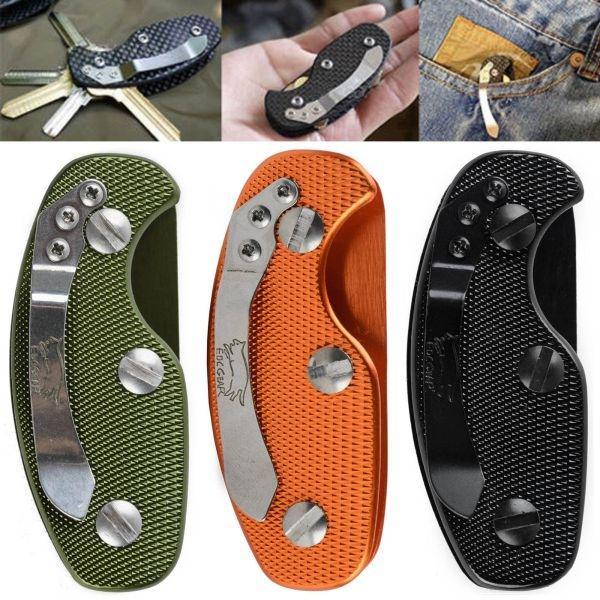 Aluminum Key Holder Clip Keys Folder Men Keyring Key Chain Case EDC Pocket Tool