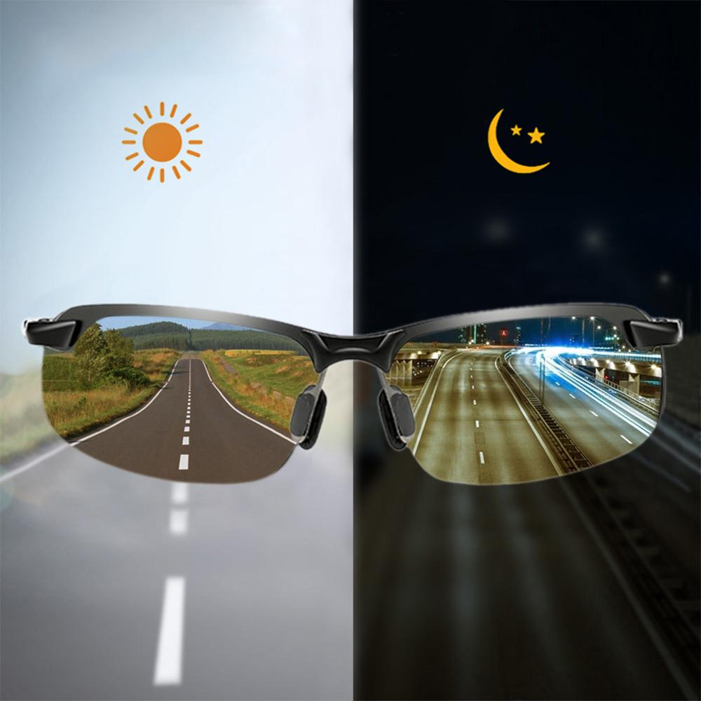 Polarized Photochromic Sunglasses Mens Woman Driving Transition Lens Glasses