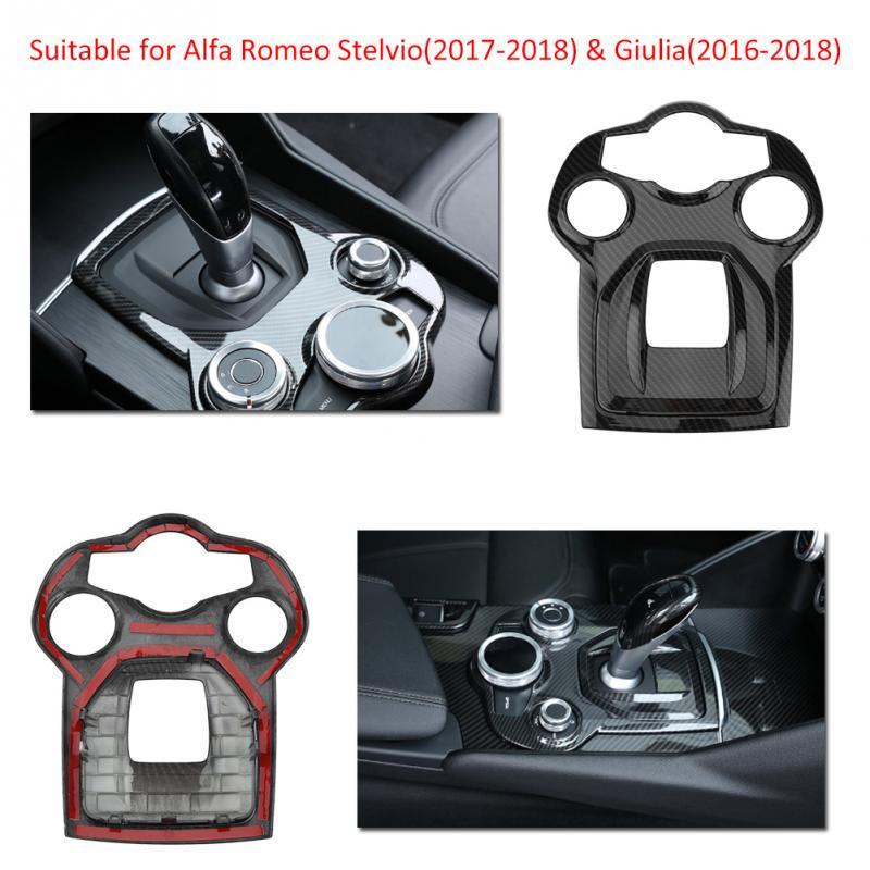 Cuque Car Interior Steering Wheel Button Decorative Cover Trim for Alfa Romeo Stelvio 2017 2018 Giulia 2016 2017 2018