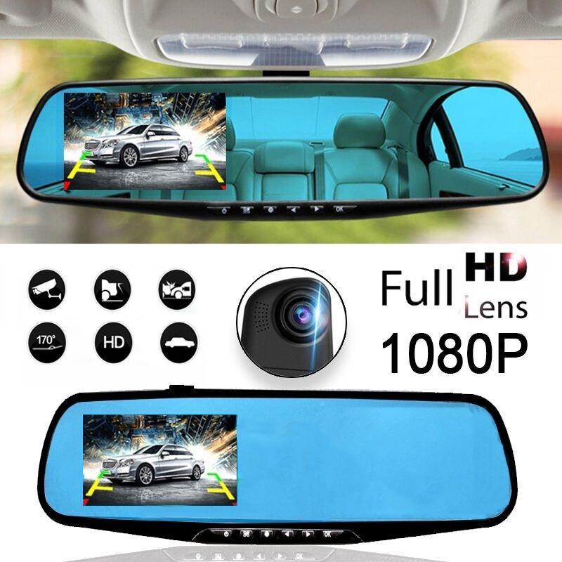 Камера Видео Полный рекордер HD Задний вид Зеркало DVR автомобиль Leadfan 3,5 дюйма фото