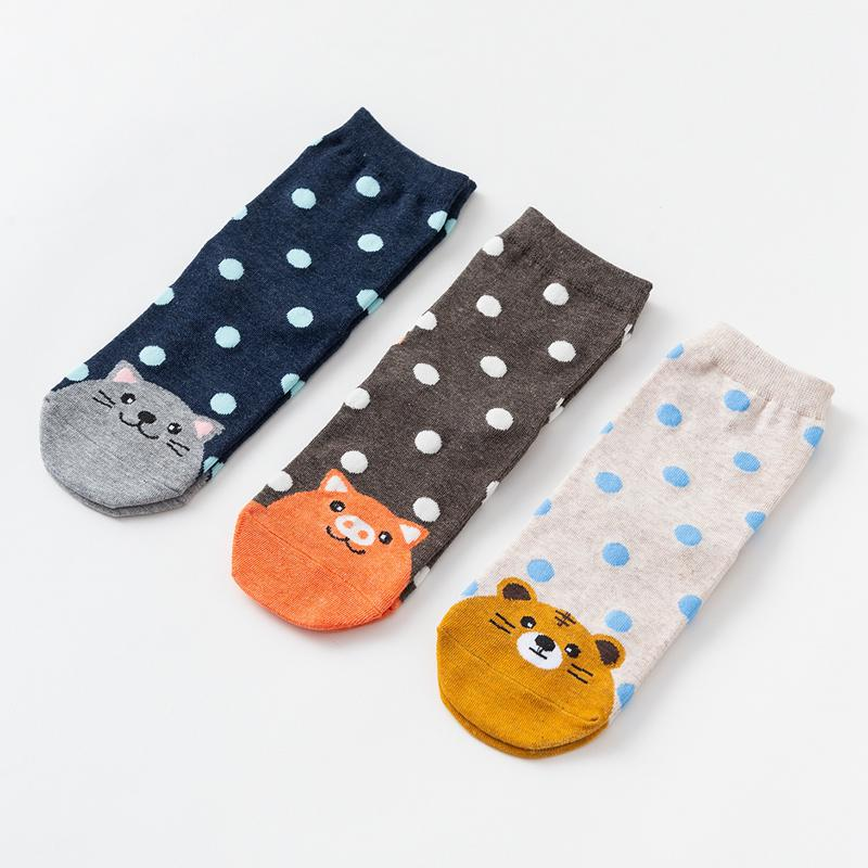 Newborn Daily Child Cartoon Animal Boy Girl Baby Tube Toe  Finger Cute Socks