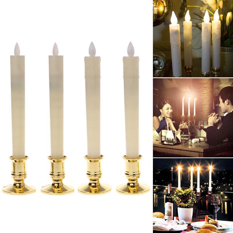 1pcs Flickering Flame Led Flameless Wax Mood Candle Tea Light Battery Xmas Decor