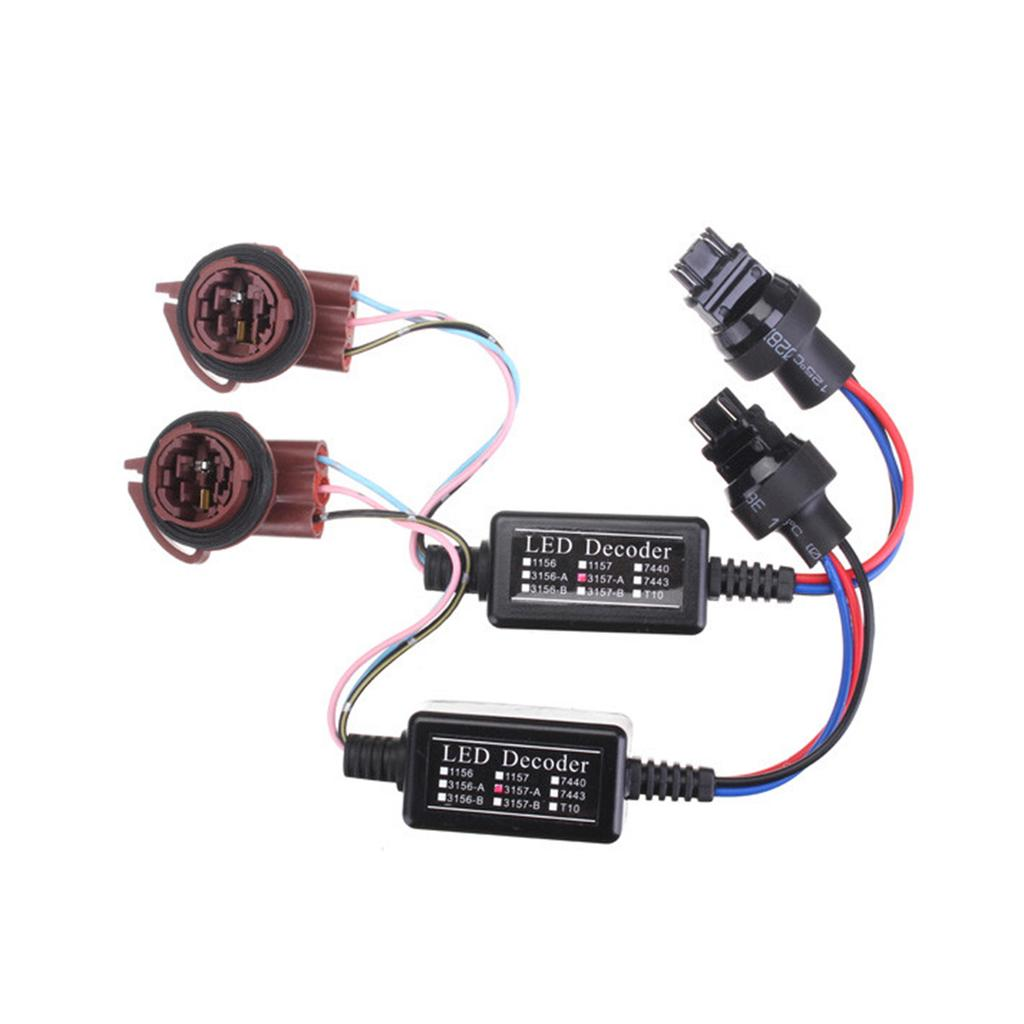 Useful 2pcs 3157 Led Decoder Adapter Anti Hyper Blink Flash Error Cancel Canbus Brake Resistor Set Car Electronics Accessories