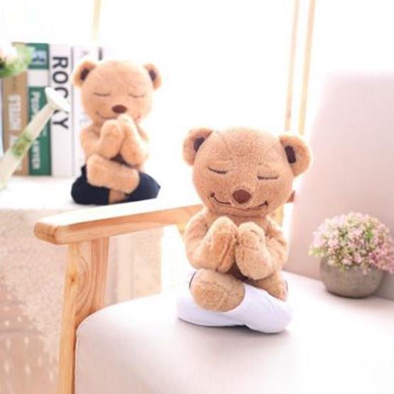 Yoga Yogi Meddy Teddy Bear Doll Plush Body Soft Bendable Cartilage Kids Gift