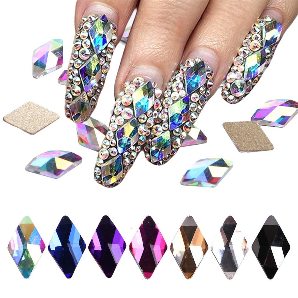 5g x 3D Nail Art 1mm Round Rhinestones Mixed Flat Back Embellishments Gems Tip