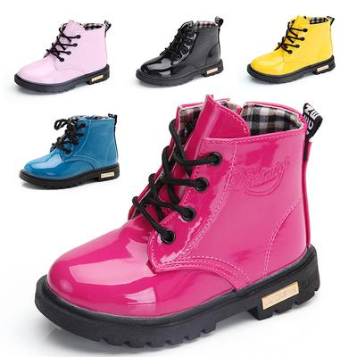 Girls Leather Boots Boys Shoes Spring Autumn PU Leather Children Boots Fashion Toddler Kids Boots Boots