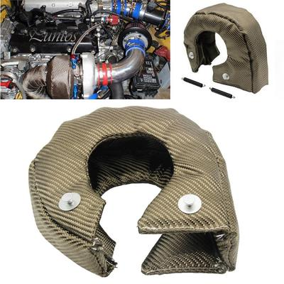 as described silver MagiDeal High Quality T4 Turbo Blanket Heat Shield Turbocharger Cover Wrap