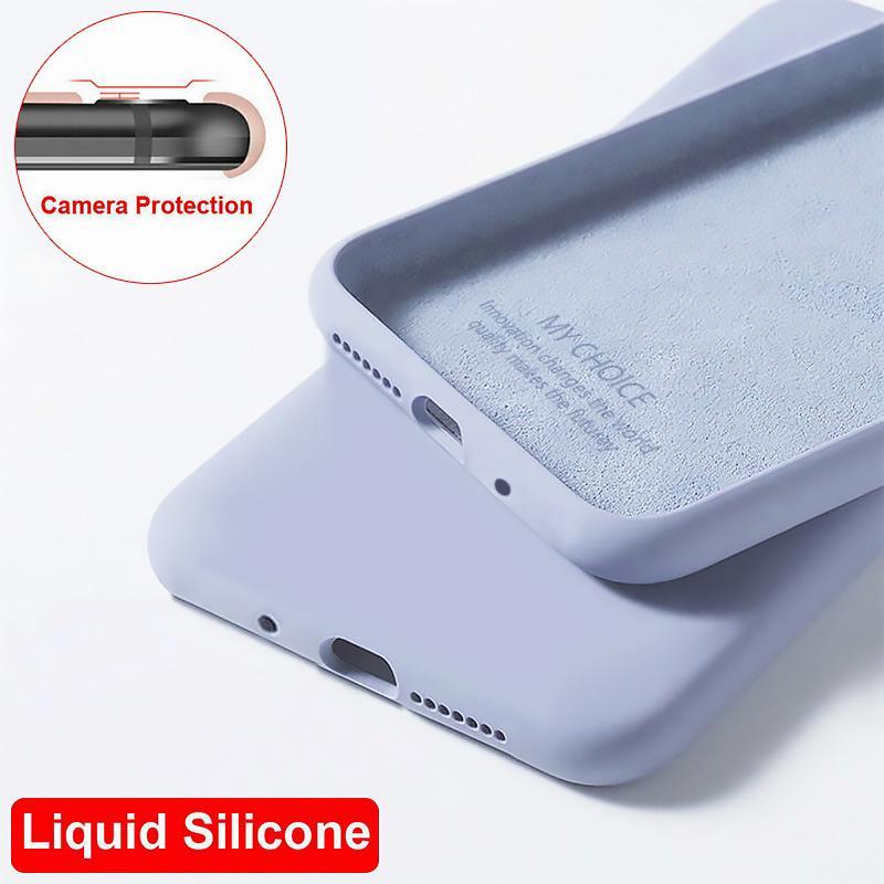 Простой твердый цвет жидкий силиконовый телефон Мягкий Чехол Для Samsung S20 Plus Ultra A71 A71 фото