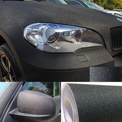 *High Gloss Glitter Black Sparkle Car Vinyl Wrap Sticker Decal Sheet Film DIY