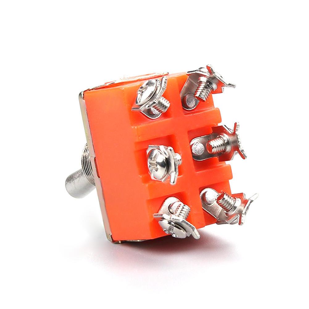 3 X DPDT 6-Pin 2 Weg schaltet auf Gitarre Mini Kippschalter Auto ...