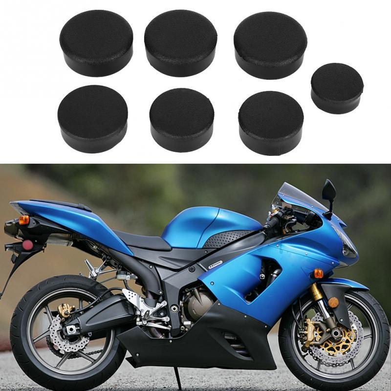 Frame Hole Plug 7Pcs Motorcycle Frame Hole Cover Cap Plug Kit Fit for ZX14//ZZR 1400