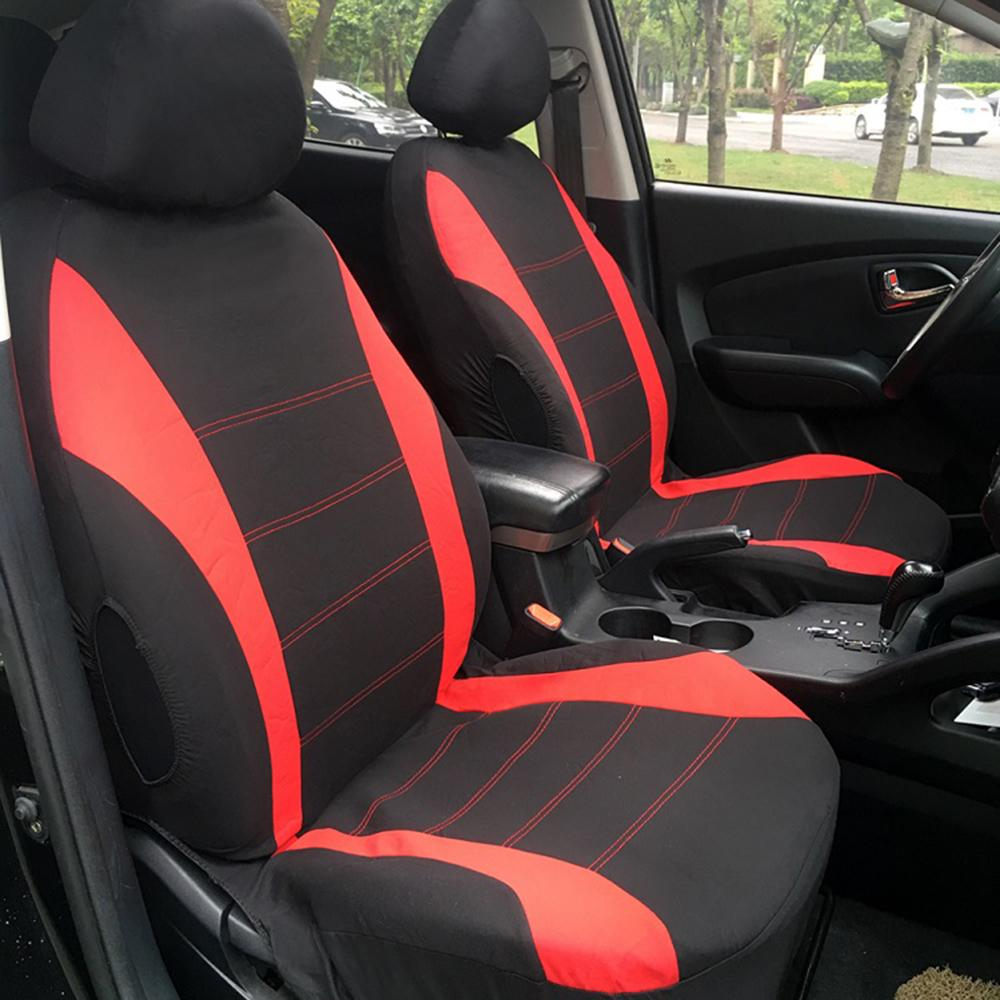 Seat Cover 9Set Full Car Styling Seat Covers For Auto Interior Accessories Red