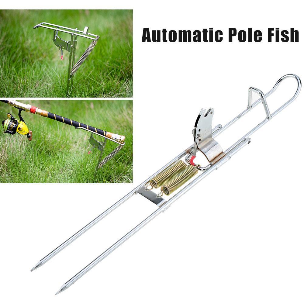 Automatic Double Spring Angle Pole Fish Pole Bracket Fishing Rod Holder #F8s