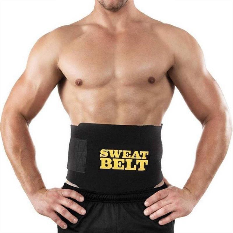 Tummy Slimming Belt Men Belly Abdomen Trimmer Waist Cincher Body Shaper Wrapper