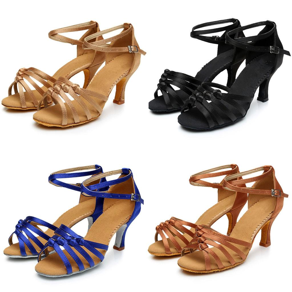 Tamanho 34 41 Mulheres Ballroom Latina Salsa Sapatos de