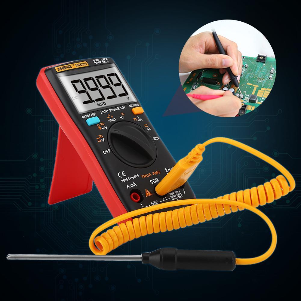 ANENG AN8009 Digital Multimeter Auto Range 9999 RMS AC//DC Spannung Tester Meter