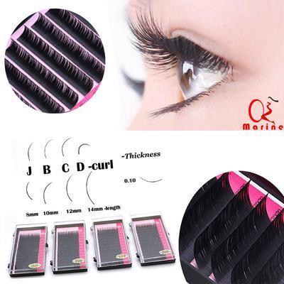 5aadcb89f2 Women Mink Black Lashes Tray Lash Extension Pro Curl B C D Set Individual  Eyelash