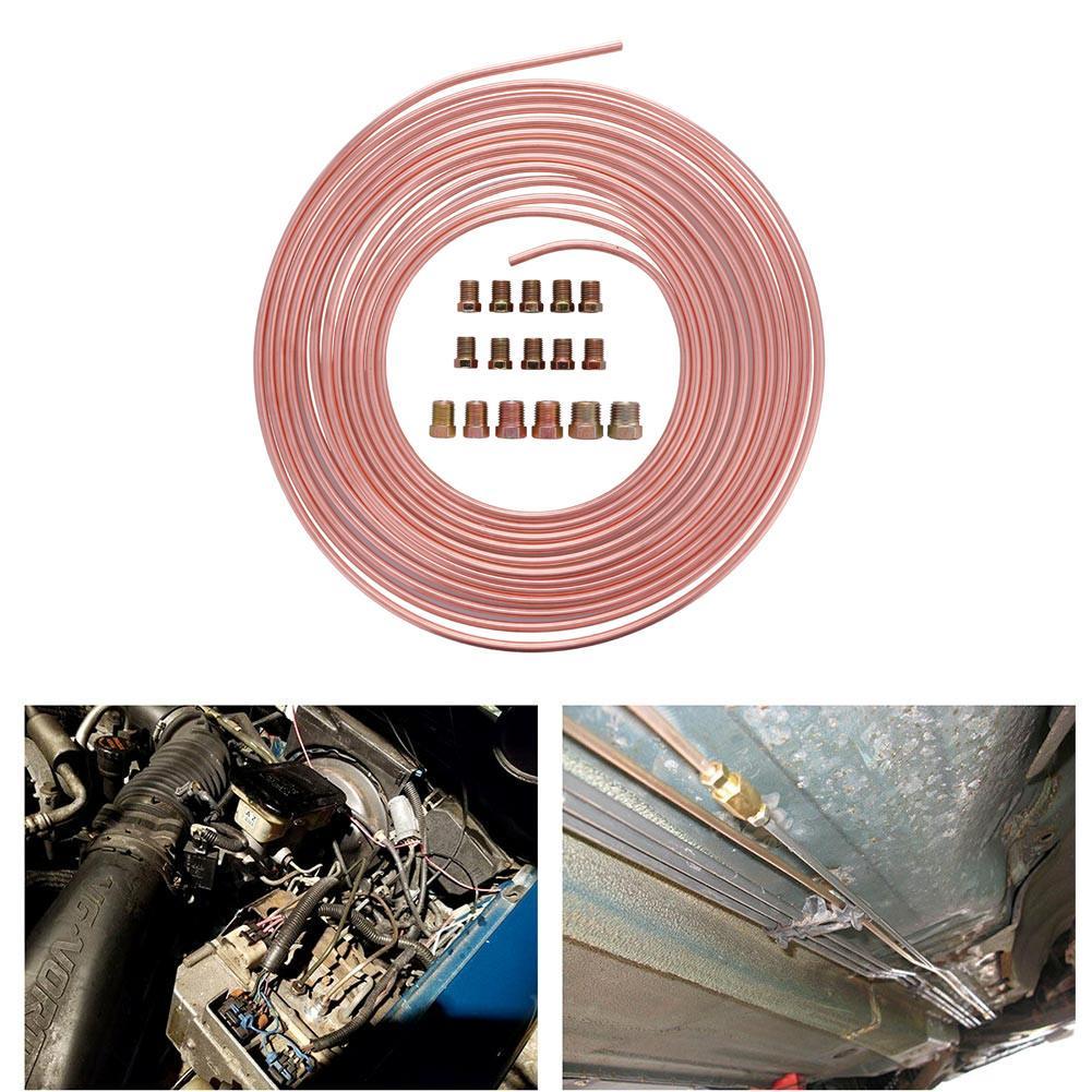 "3//16/"" Copper Nickel Brake Line 5 PCS Easy Bend Easy Flare 25/' Rolls CUPRO NICKEL"