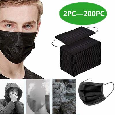 Face Mask Proof Protect Face Mouth Cover Outdoor Youre Too Close 2 Pcs Black [TS]