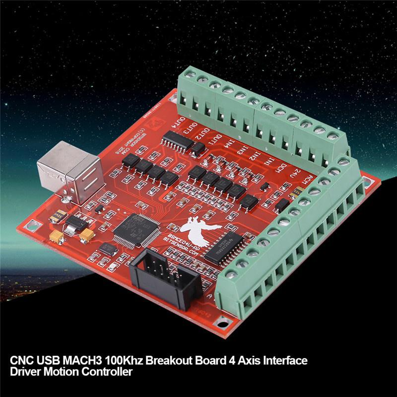CNC USB MACH3 100KHz Board 4-Axis Interface Driver Motion Controller