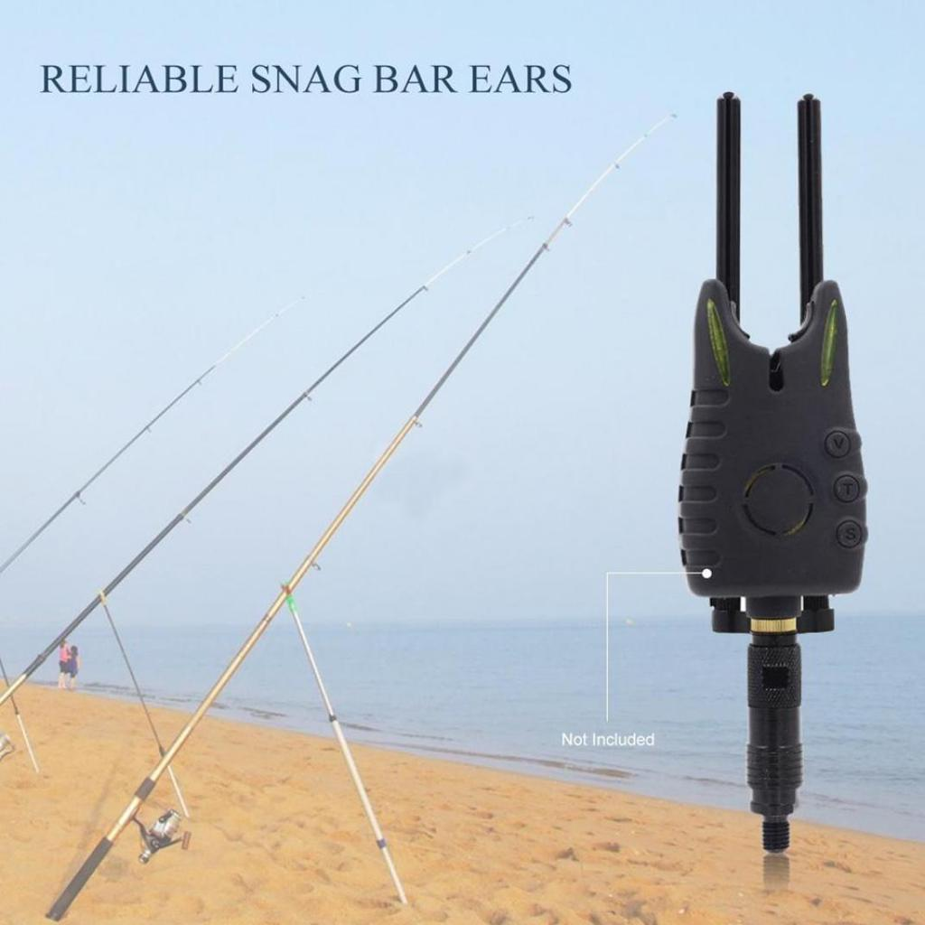 Carp Fishing Aluminium Alloy Snag Bars Ears Black for Bite Alarms Windproof N#S7