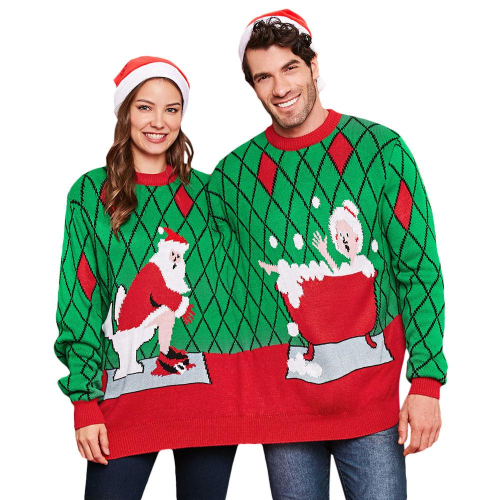 Accreate Unisex All Matching Fashion 3D Starry Red Forest Printed Hooded Tops