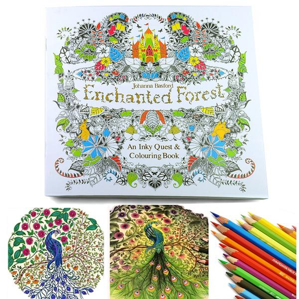 Enchanted Forest An Inky Treasure Hunt And Coloring Book By Johanna Basford  - Buy From 14$ On Joom E-commerce Platform