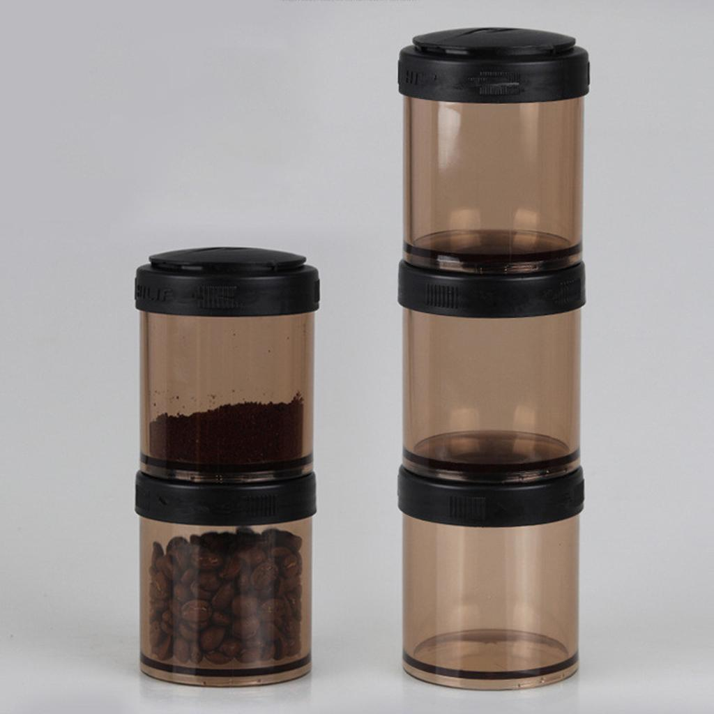 3xTea Coffee Sugar Canisters Kitchen Office Food Nut Storage Jars Pots Solid