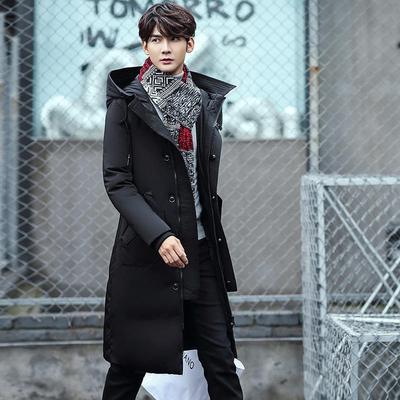 da4edaf79ba Куртки зимние Повседневная мода Parka мужчины стоять воротник пальто с  капюшоном