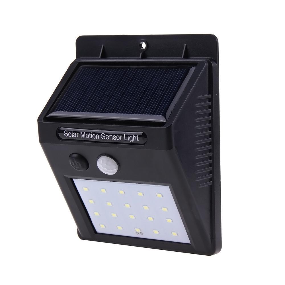 Outdoor Solar 20 LED Waterproof Motion Sensor Wall Light Garden Yard Path Lamp