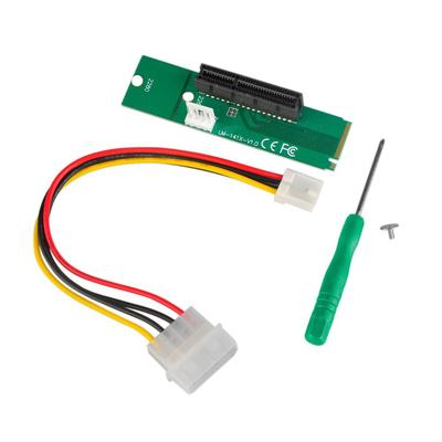 New NGFF M.2 to PCI-E 4X Slot Riser Card PCIE 4X Female to NGFF M.2 M Male Adapter for Bitcoin Mining Miner