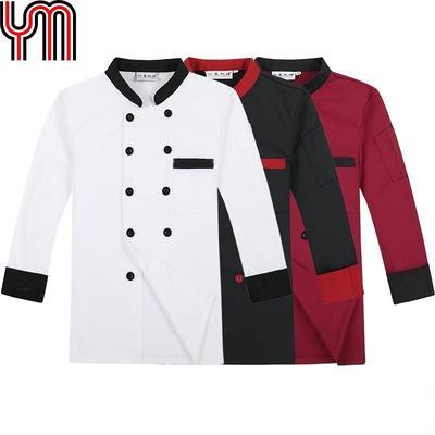 Men Half Sleeve Chefs Apparel Unisex 3//4 Sleeve Jacket Top Coat Uniforms