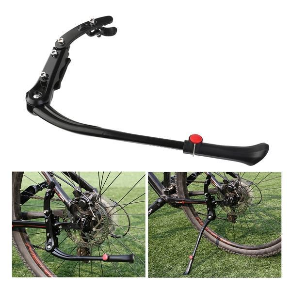 No//Brand Bicycle Side Kickstand Aluminum Alloy Adjustable Universal Road Bike Parking Rack Mountain Bicycle Side Kick Stand