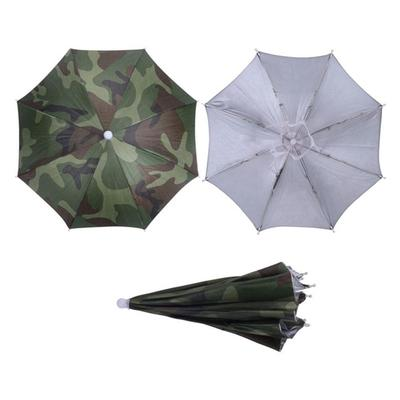 a8b20c70b3e Camouflage Foldable Headwear Sun Umbrella Fishing Hiking Beach Camping  Headwear Cap Head Hats