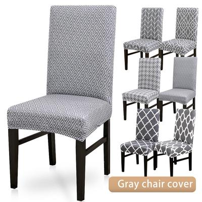 Gray Printing Pattern Dining Room Chair Cover Removable Washable Stretch Seat Cover Buy At A Low Prices On Joom E Commerce Platform