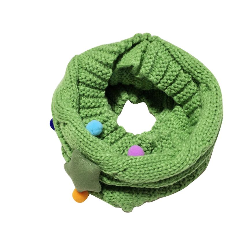 Kids Soft Knitted Circle Scarves Neckerchiefs Collar Loop Scarf Xmas Gift
