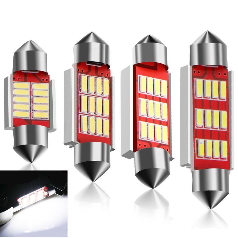 2x COB 36mm-LED PANEL Error Free Fetsoon Car Number Plate Light Bulbs VW Bora
