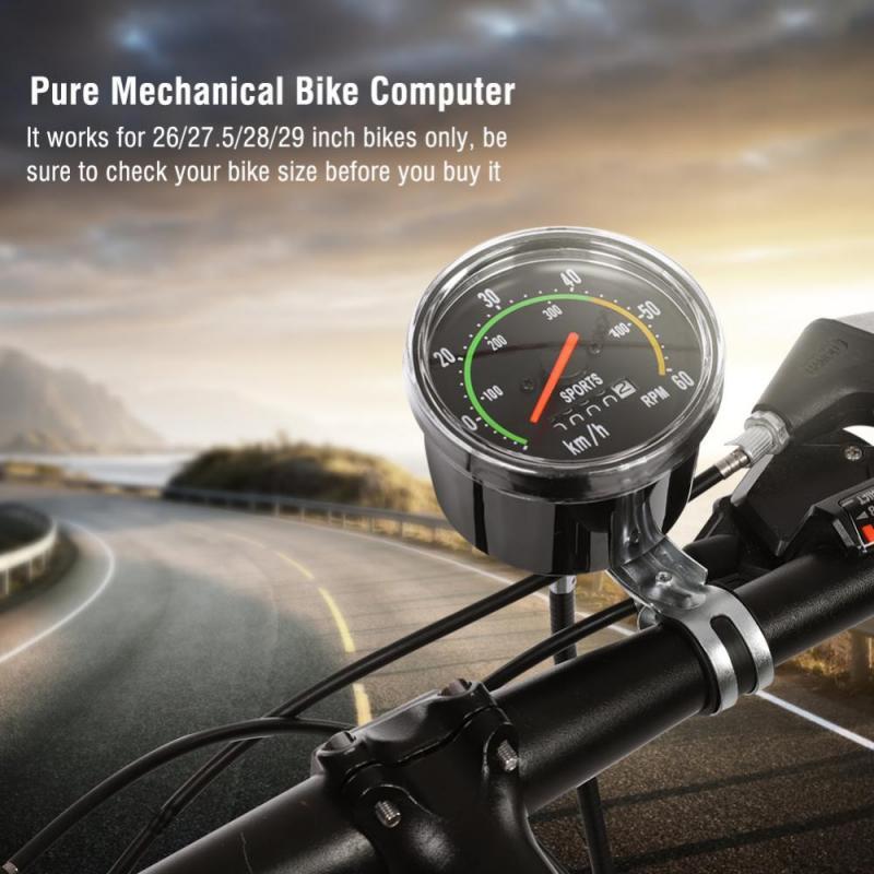 Od/ómetro Mec/ánico de Bicicleta Durable Od/ómetro de Precisi/ón de Aleaci/ón de Aluminio Veloc/ímetro para Bicicleta Triciclo