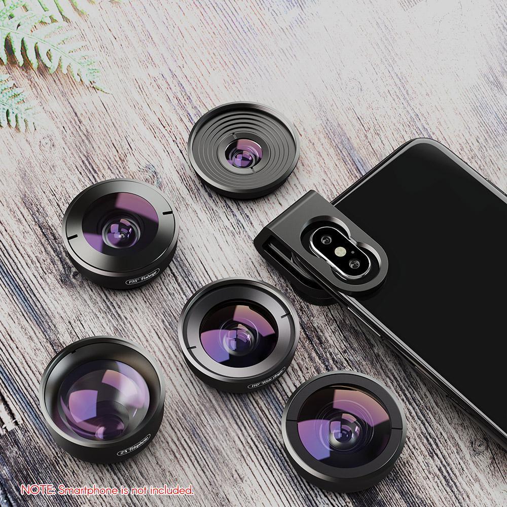 110/°Wide Angle Apexel HD Mobile Phone Camera Phone Lens Set 195/°Fisheye for Dual Lens//Single Lens iPhone Pixel Samsung Galaxy Smartphones 170/°Super Wide Angle 2X Telephoto Lens 10x Macro Lens