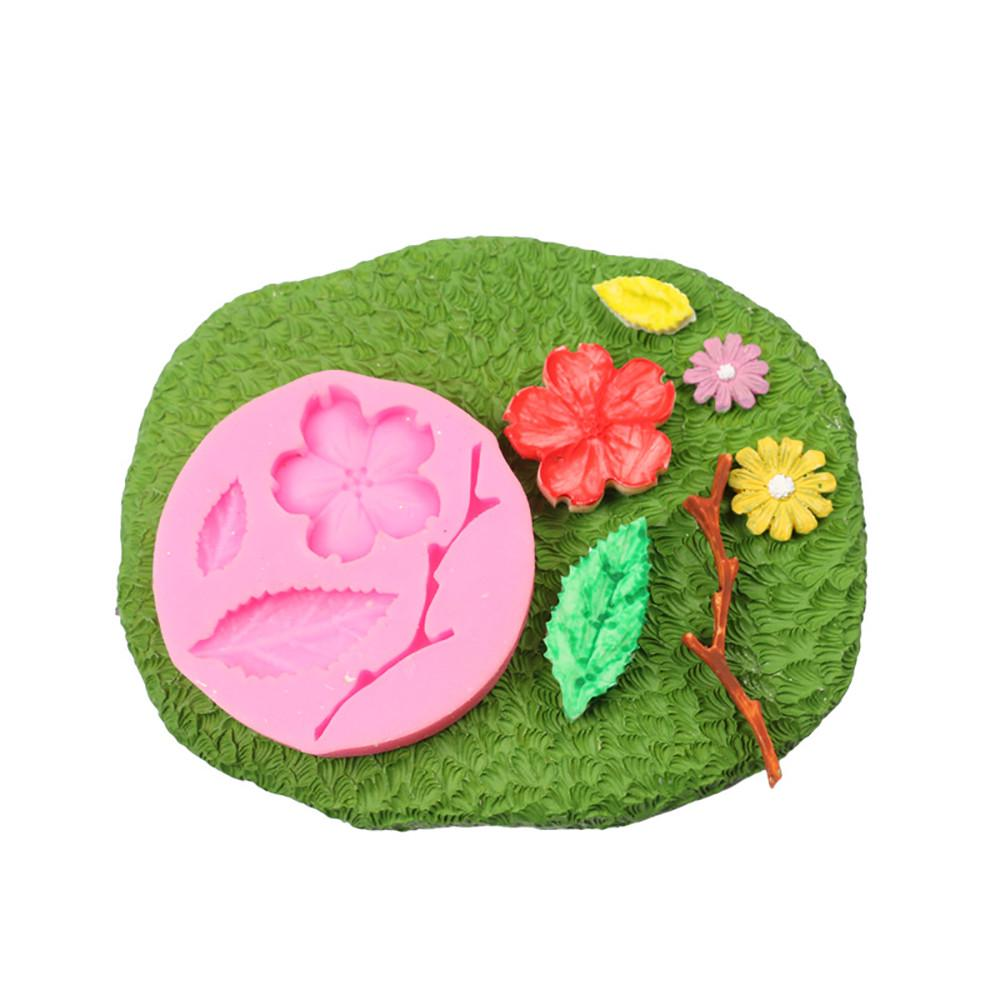 Moule en silicone 3D À faire soi-même Dentelle Sucre Artisanat Fondant Mat gâteau décoration cuisson outils