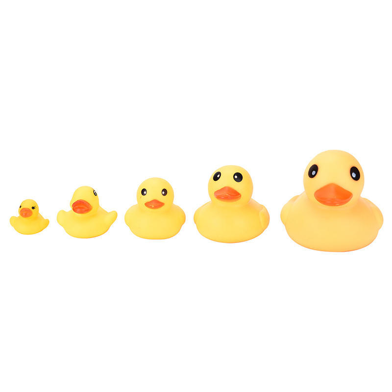Mini Bathtime Rubber Duck Pig Bath Toys Squeaky Water Play Toy for Kids Toddlers