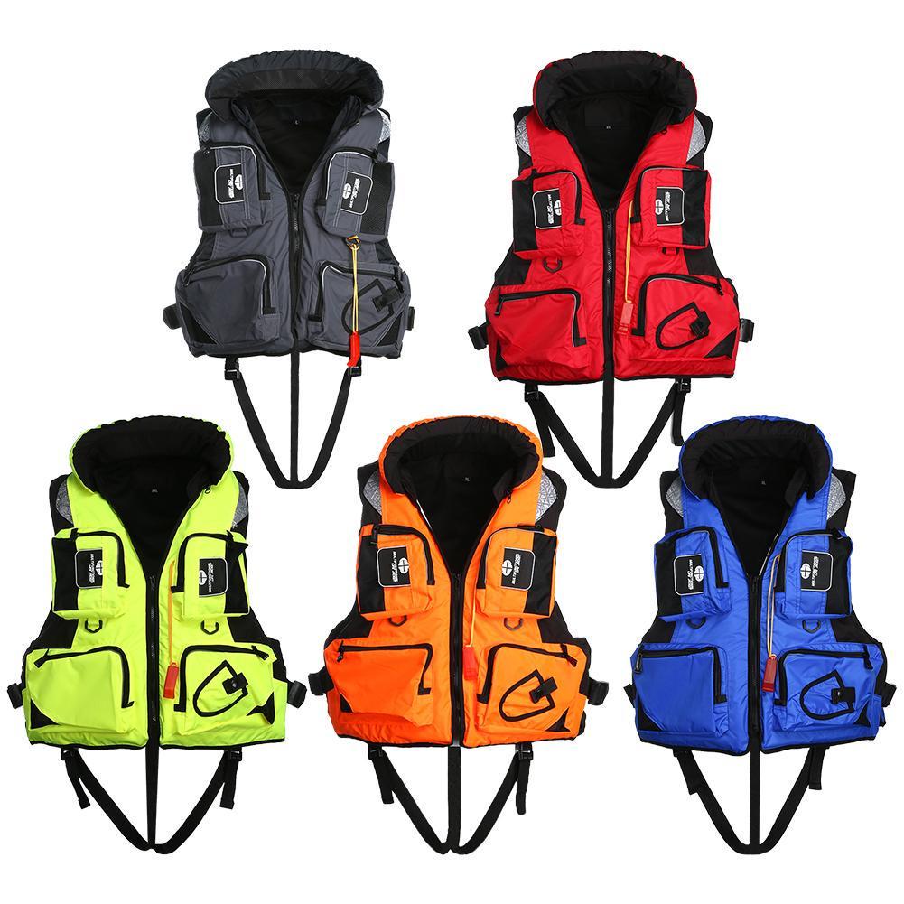 Adjustable Safety LifeJacket Survival Vest Swim Boat Drift Fishing sailing Adult