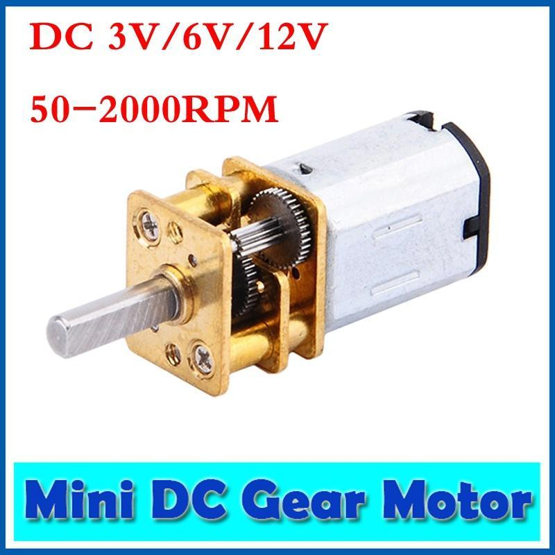 DC 3-12V Mini Geared Motor 50-2000RPM Speed Reduction Motor N20 Brushed DC Motor