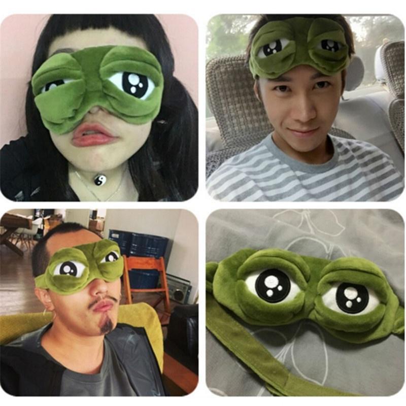 Pepe the frog Sad frog 3D Eye Mask Cover Sleeping Rest Sleep Anime Funny