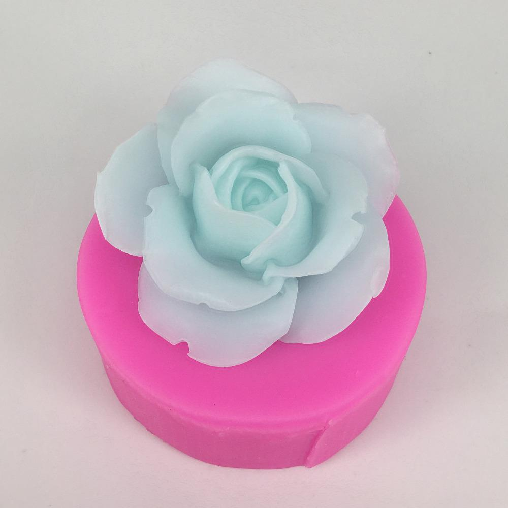 Elegance Rose with leaves Handmade Silicone Mold Mould for deco sugar chocolate dessert ice resin candle wax clay plaster diffuser soap