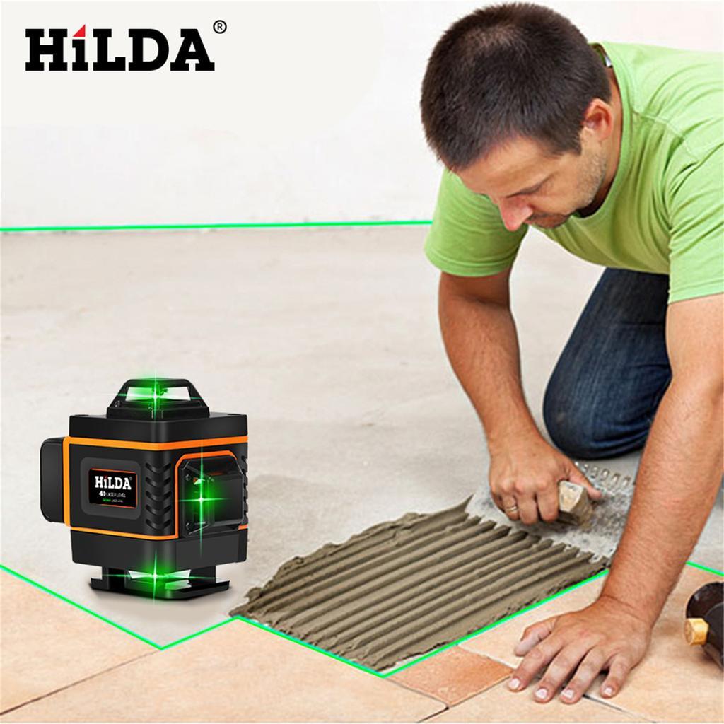 HILDA 16 Lines 4D Laser Level Level Self-Leveling 360 Horizontal And Vertical Cr