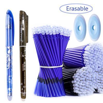 23 Pcs/Set Magic Erasable Gel Pen 0.5mm Blue Black Red Ink Pen Refill Eraser Set Washable Handle for School Writing