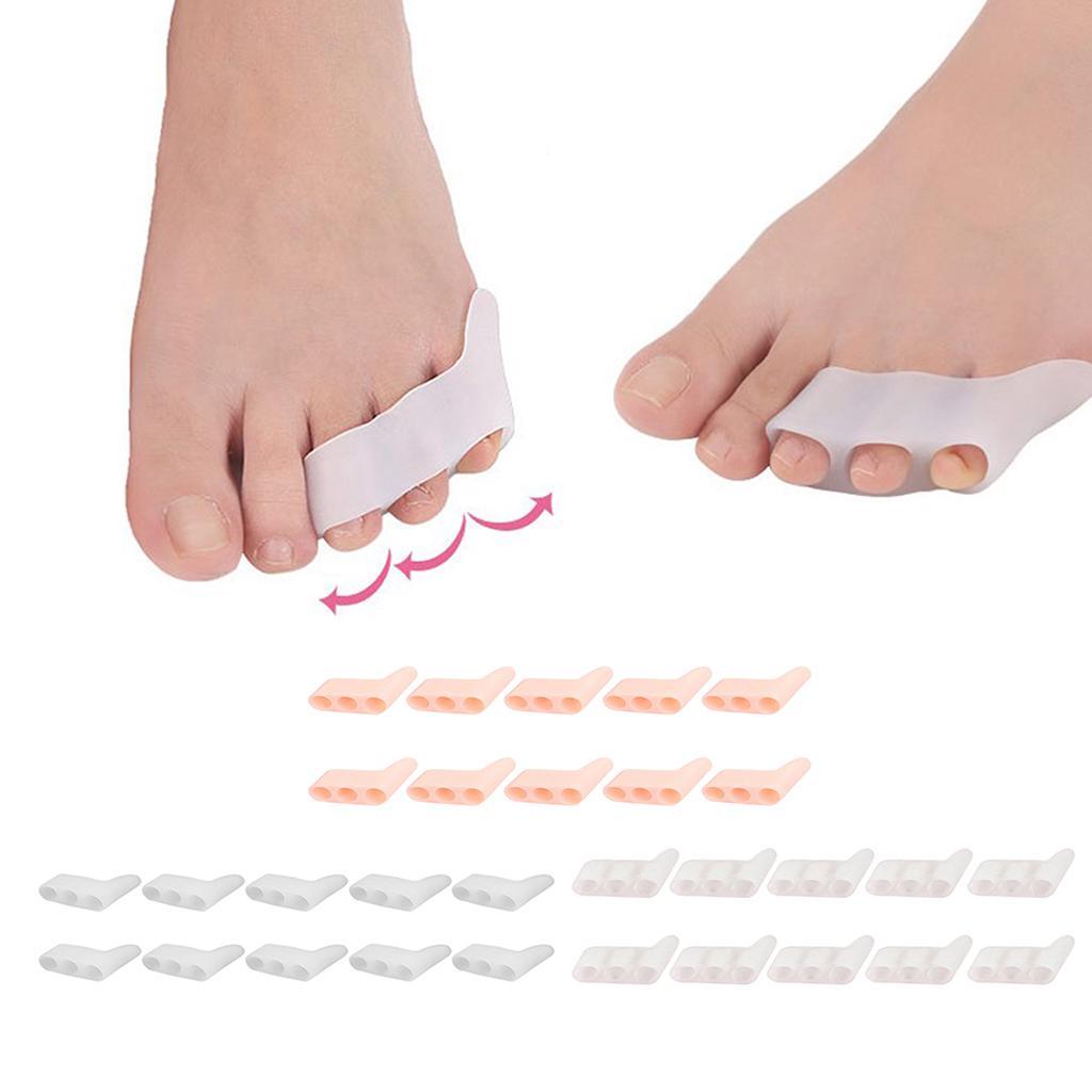 1 Pair Gel Little//Pinky Toe Valgus Corrector Separators Spacer Straighteners